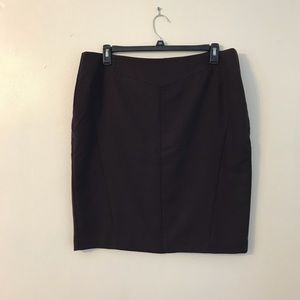 Worthington Burgundy Black Check Wiggle Skirt 18